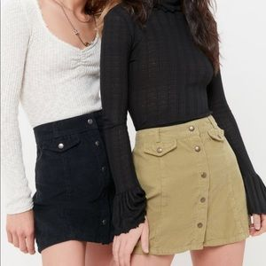 UO Corduroy Button Up Skirt